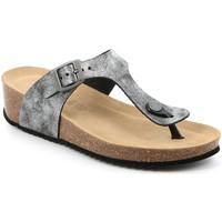 Cipők Női Lábujjközös papucsok Grunland CB2493 Fekete