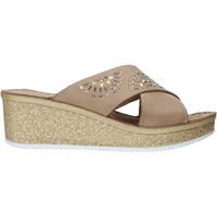 Cipők Női Papucsok Grunland CI1771 Bézs