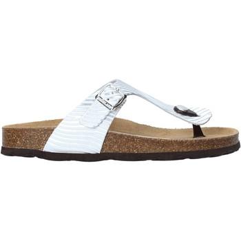 Cipők Női Lábujjközös papucsok Grunland CB2469 Ezüst