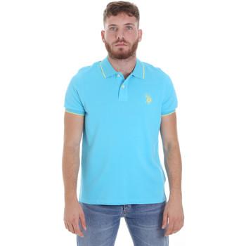 Ruhák Férfi Rövid ujjú galléros pólók U.S Polo Assn. 58561 41029 Kék