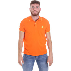 Ruhák Férfi Rövid ujjú galléros pólók U.S Polo Assn. 58561 41029 Narancssárga