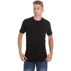 Ruhák Férfi Rövid ujjú pólók Les Copains 9U9010 Fekete