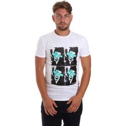 Ruhák Férfi Rövid ujjú pólók Antony Morato MMKS01743 FA120001 Fehér