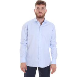 Ruhák Férfi Hosszú ujjú ingek Les Copains 20P.887 P3196SL Kék