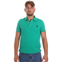 Ruhák Férfi Rövid ujjú galléros pólók U.S Polo Assn. 55985 41029 Zöld