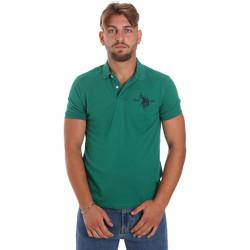 Ruhák Férfi Rövid ujjú galléros pólók U.S Polo Assn. 55959 41029 Zöld