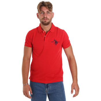 Ruhák Férfi Rövid ujjú galléros pólók U.S Polo Assn. 55959 41029 Piros