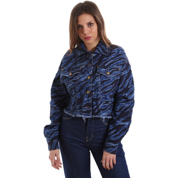 Ruhák Női Farmerkabátok Versace C0HVB939AQC5Q904 Kék