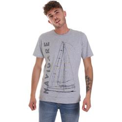 Ruhák Férfi Rövid ujjú pólók Navigare NV31109 Szürke
