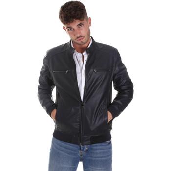 Ruhák Férfi Bőrkabátok / műbőr kabátok Sseinse GBE574SS Kék