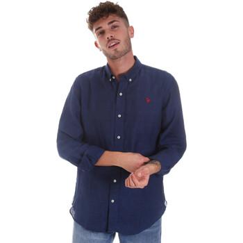 Ruhák Férfi Hosszú ujjú ingek U.S Polo Assn. 58574 50816 Kék