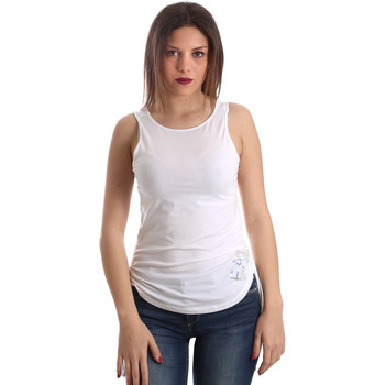 Ruhák Női Trikók / Ujjatlan pólók Ea7 Emporio Armani 3GTH54 TJ28Z Fehér