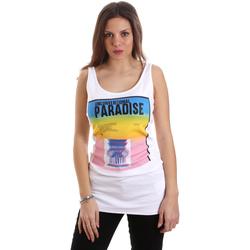 Ruhák Női Trikók / Ujjatlan pólók Versace D2HVB4V030384003 Fehér