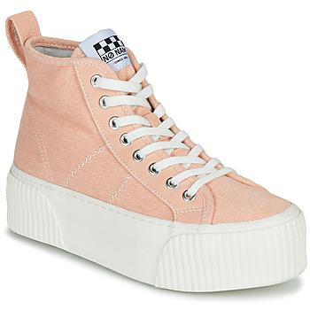 Cipők Női Magas szárú edzőcipők No Name IRON MID Rózsaszín