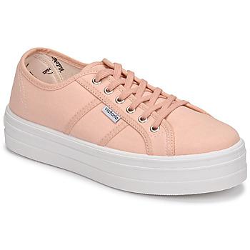 Cipők Női Rövid szárú edzőcipők Victoria BARCELONA LONA Rózsaszín