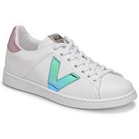 Cipők Női Rövid szárú edzőcipők Victoria TENIS VEGANA VINI Fehér / Kék / Rózsaszín