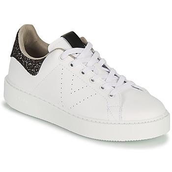 Cipők Női Rövid szárú edzőcipők Victoria UTOPIA GLITTER Fehér / Barna
