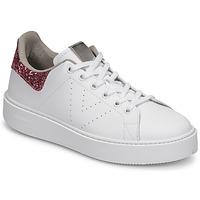 Cipők Női Rövid szárú edzőcipők Victoria UTOPIA GLITTER Fehér / Rózsaszín