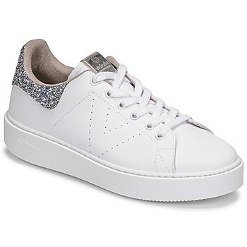 Cipők Női Rövid szárú edzőcipők Victoria UTOPIA GLITTER Fehér / Ezüst