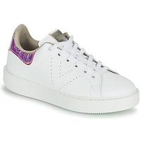 Cipők Női Rövid szárú edzőcipők Victoria UTOPIA HOLOG Fehér