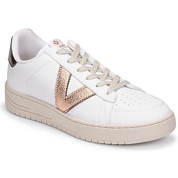 Cipők Női Rövid szárú edzőcipők Victoria SIEMPRE BASKET VEGANA METALIZADO Fehér