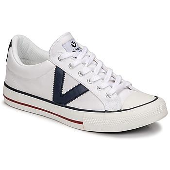 Cipők Rövid szárú edzőcipők Victoria TRIBU LONA CONTRASTE Fehér / Kék