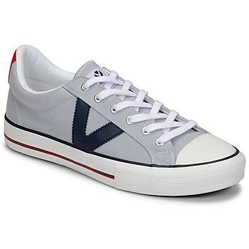 Cipők Férfi Rövid szárú edzőcipők Victoria TRIBU LONA CONTRASTE Szürke