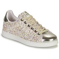 Cipők Lány Rövid szárú edzőcipők Victoria TENIS GLITTER Ezüst