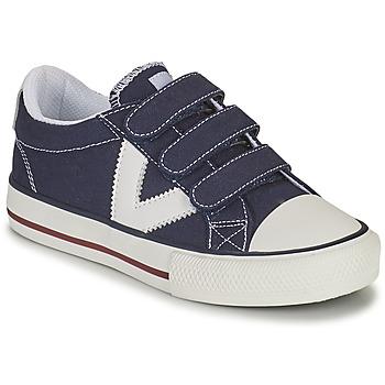 Cipők Fiú Rövid szárú edzőcipők Victoria TRIBU TIRAS LONA Kék