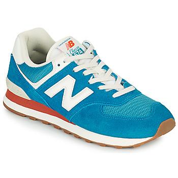 Cipők Férfi Rövid szárú edzőcipők New Balance 574 Kék / Fehér
