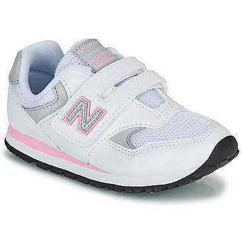 Cipők Lány Rövid szárú edzőcipők New Balance 393 Fehér / Rózsaszín