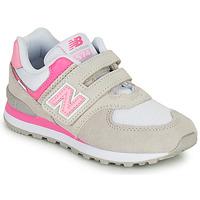 Cipők Lány Rövid szárú edzőcipők New Balance 574 Szürke / Rózsaszín
