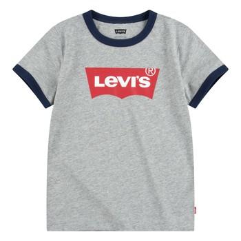 Ruhák Fiú Rövid ujjú pólók Levi's BATWING RINGER TEE Szürke