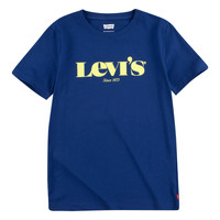 Ruhák Fiú Rövid ujjú pólók Levi's GRAPHIC TEE Kék