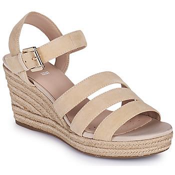 Cipők Női Szandálok / Saruk Geox D SOLEIL C Bézs