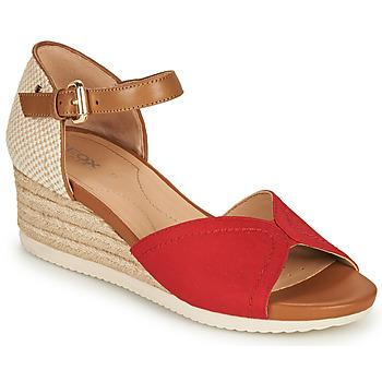 Cipők Női Szandálok / Saruk Geox D ISCHIA CORDA D Piros / Konyak