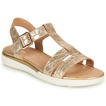 Cipők Női Szandálok / Saruk Geox D SANDAL HIVER B Arany