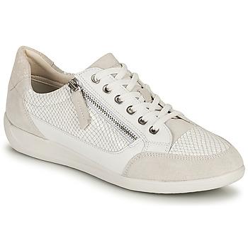 Cipők Női Rövid szárú edzőcipők Geox D MYRIA A Fehér