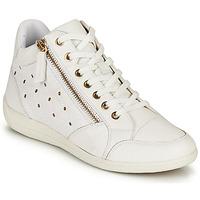 Cipők Női Magas szárú edzőcipők Geox D MYRIA G Fehér