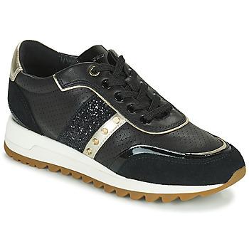 Cipők Női Rövid szárú edzőcipők Geox D TABELYA B Fekete