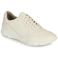 Cipők Női Rövid szárú edzőcipők Geox D SUKIE A Fehér