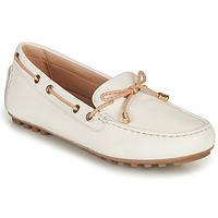 Cipők Női Mokkaszínek Geox D LEELYAN C Fehér / Bézs