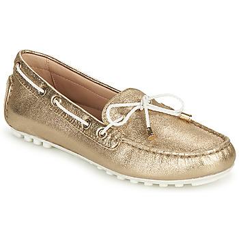 Cipők Női Mokkaszínek Geox D LEELYAN C Arany / Fehér