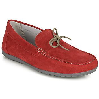 Cipők Férfi Mokkaszínek Geox U TIVOLI A Piros