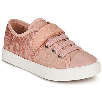 Cipők Lány Rövid szárú edzőcipők Geox JR CIAK GIRL Rózsaszín