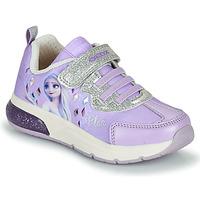 Cipők Lány Rövid szárú edzőcipők Geox SPACECLUB GIRL Lila