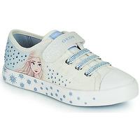 Cipők Lány Rövid szárú edzőcipők Geox JR CIAK GIRL Fehér / Kék