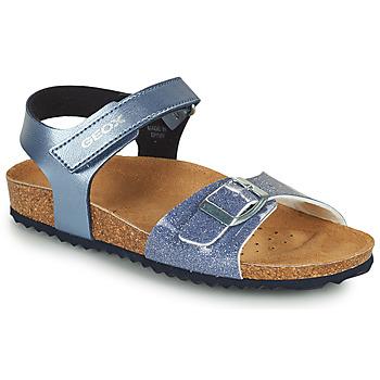 Cipők Lány Szandálok / Saruk Geox ADRIEL GIRL Kék