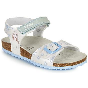 Cipők Lány Szandálok / Saruk Geox ADRIEL GIRL Fehér / Kék