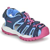 Cipők Lány Sportszandálok Geox BOREALIS GIRL Kék / Rózsaszín